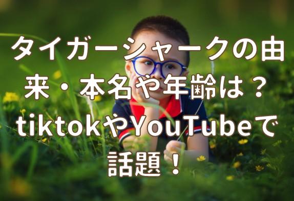 タイガーシャークの由来・本名や年齢は?tiktokやYouTubeで話題!