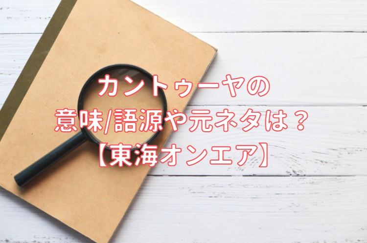 カントゥーヤの意味/語源/元ネタ
