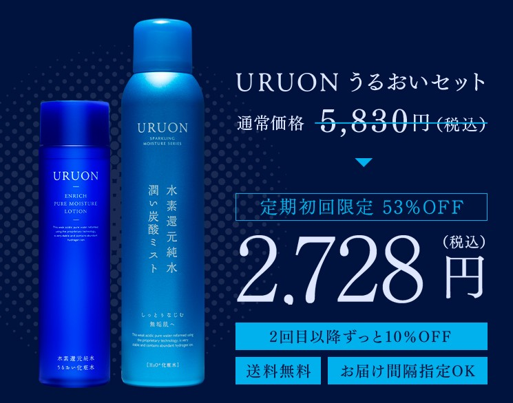 URUONうるおい化粧水 解約&返金保証