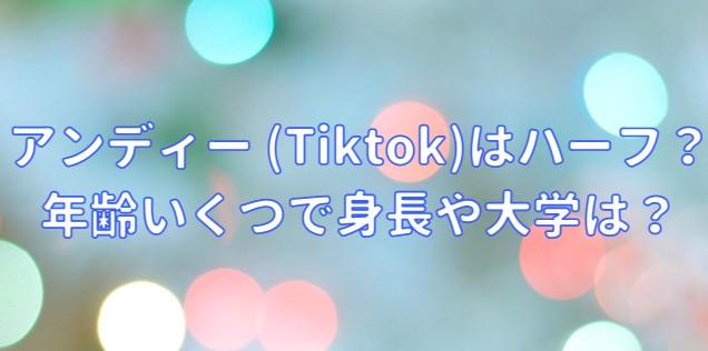 アンディー (Tiktok)はハーフ?年齢いくつで身長や大学の記事のアイキャッチ画像