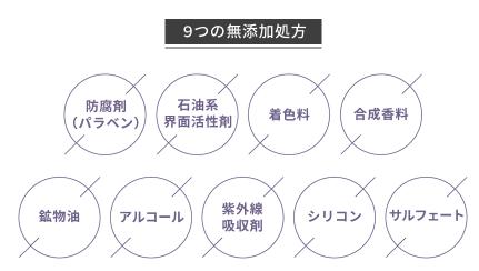 9つの無添加処方