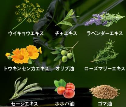 9種類のボタニカルエキス