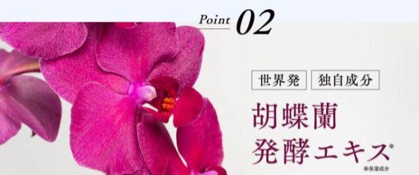 胡蝶蘭発酵エキス配合